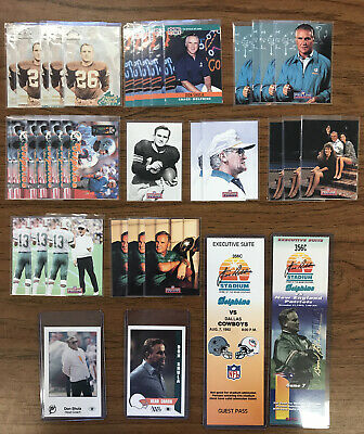 LOT OF 36 DON SHULA MIAMI DOLPHINS CARDS INCL. (2) EXECUTIVE SUITE TICKET STUBS