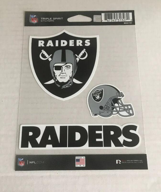 Raiders, (3) Decals Set: Triple Spirit Stickers *free Shipping*