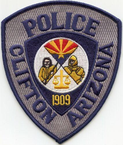 CLIFTON ARIZONA AZ POLICE PATCH