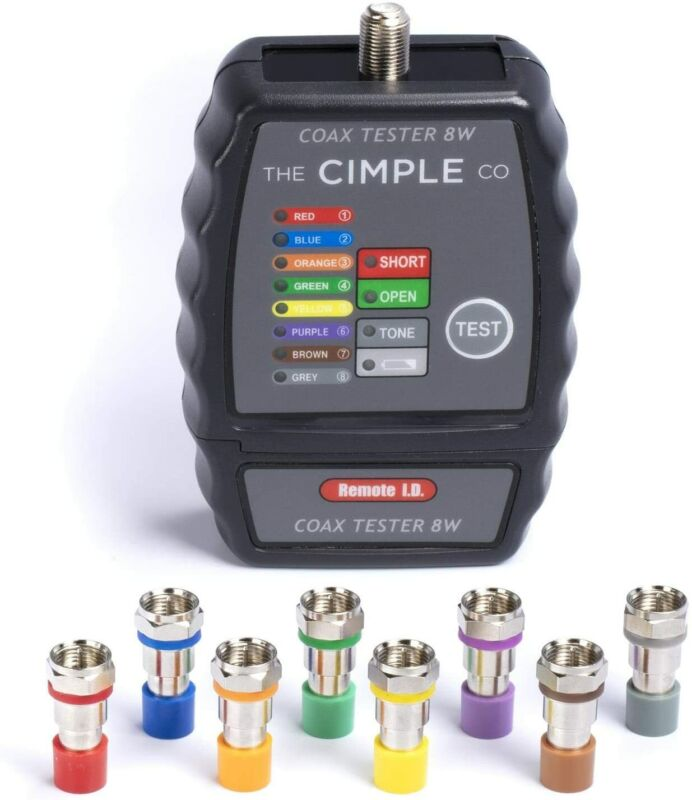 Coaxial Cable Toner Tester - 8-Way Mapper Coax Locator Tracker Commercial Grade