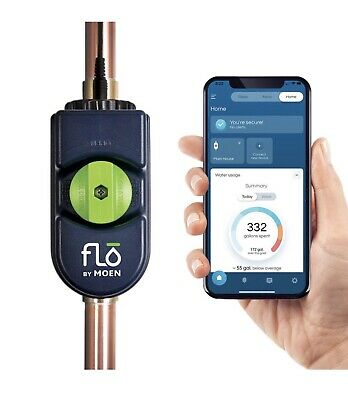 Flo By Moen Smart Water Leak Detector With Automatic Shut Off Valve For 34 0.