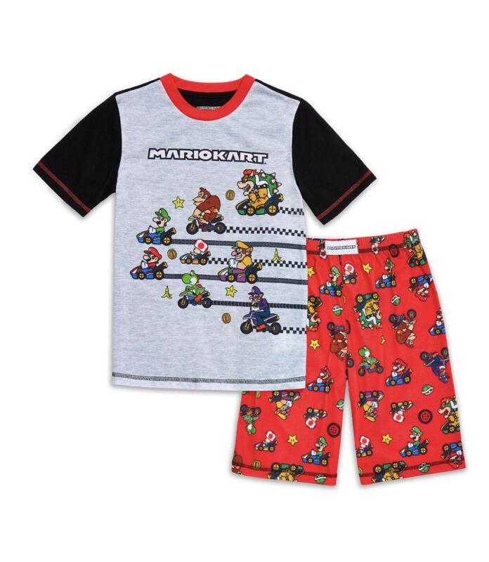 Nintendo Mariokart Boys 2pc Pajama Set  Size XS 4/5. NWT