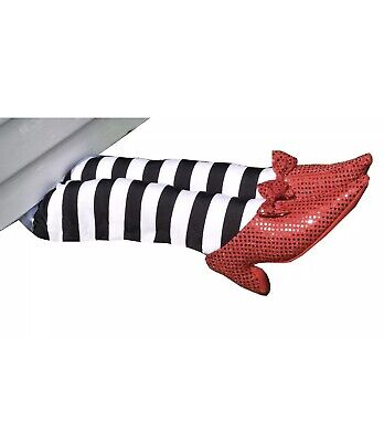Wizard of Oz Prop 18-Inch Wicked Witch Legs Ruby Slippers Halloween Decoration  - Halloween Witches Legs