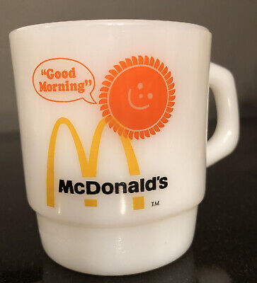 FIRE KING, Good Morning McDonald's Coffee Mug, VINTAGE, Unused