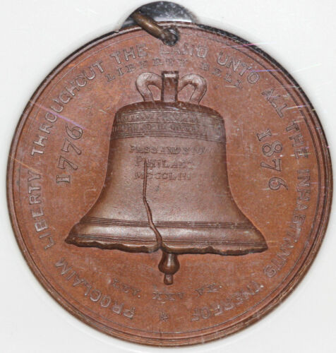 1876 SC$1 PA HK-24 US Centennial Exposition Liberty Bell Dollar NGC MS 65 BN