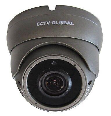 3MP HD TVI AHD CCTV GREY DOME OUTDOOR CAMERA VARIFOCAL 2.8-12mm LENS 30m IR