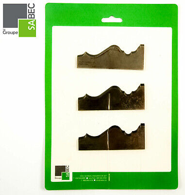 New Moulding Knives Kit Of 3 Base Bord 4.0 Woodmaster Compatible 1016