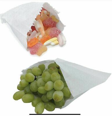 "Over 2000 Sulphite Strung Sweet Food Fruit Veg Market Stall Paper Bags 12"" x 12"""