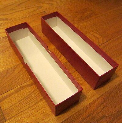 """(1) 9"""" Single Row Coin Storage Box Red   Cardboard Flips Holder & Storage 2x2x9"""