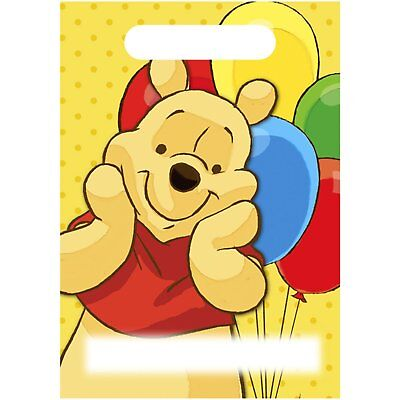 16 Winnie the Pooh Birthday Favor Goody Bags Treat sacks Party Supplies - 16 Party