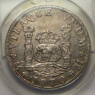 1770 FM 8 Reales:  Mexico City Mint:   ANACS AU-55