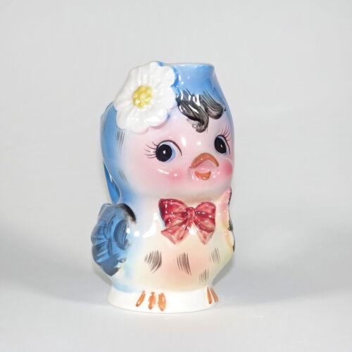 Vintage Lefton Bluebird Creamer Norcrest Bird Topline Imports Anthropomorphic