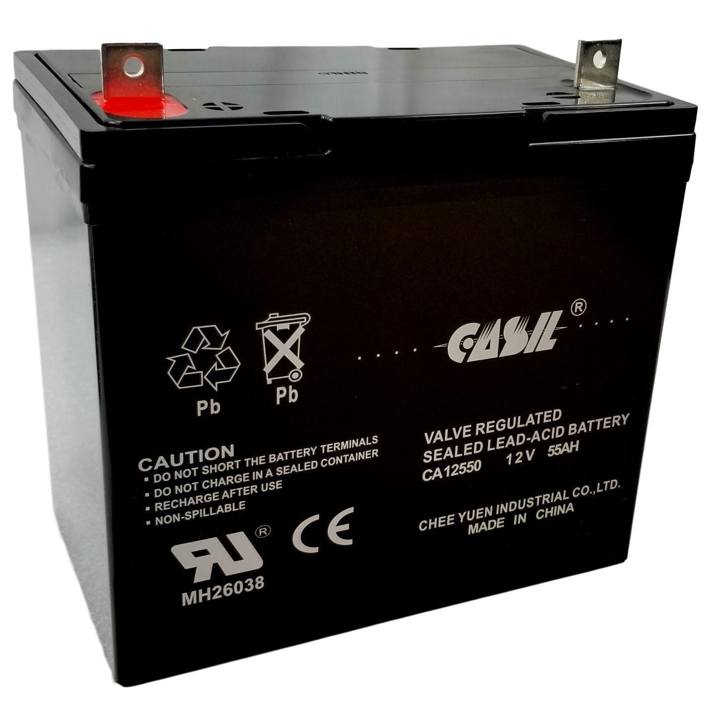 Casil 12V 55Ah AGM Battery for Solar Wind Deep Cycle