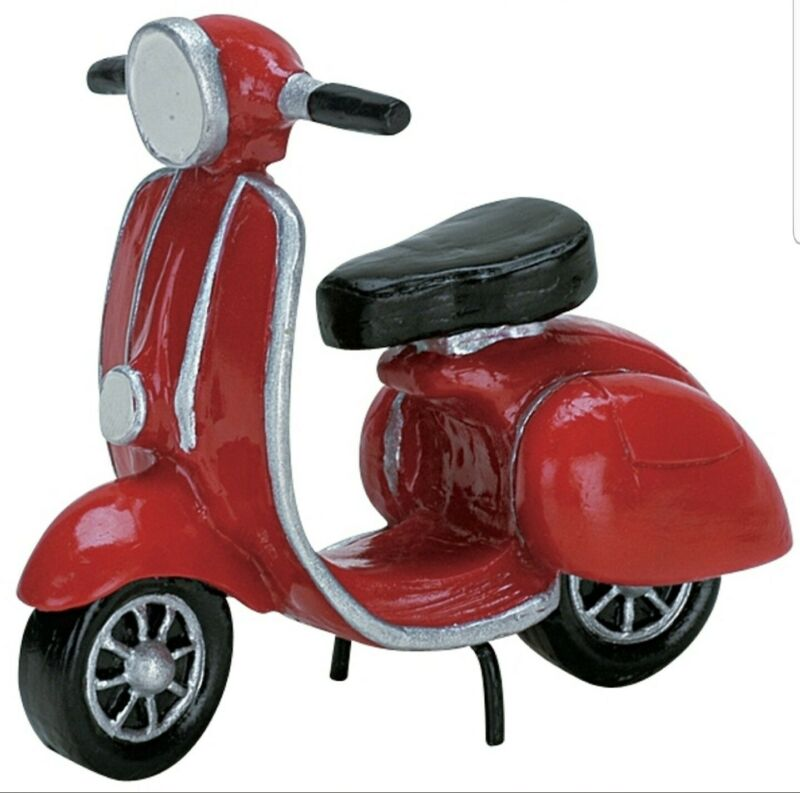 Lemax Christmas Village Red Moped #74610 Accessory Scooter New