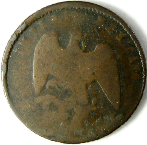 "1864-M  Mexico Centavo  Km# 384  G+  ""Empire of Maximillian""  One-Year Type"