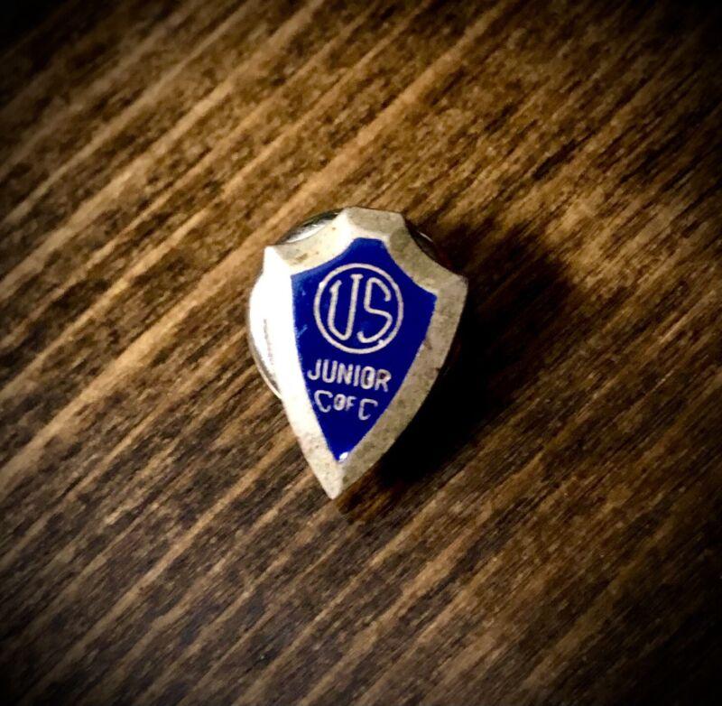 "VTG""US Junior C of C""Chamber of Commerce Shield Enamel Pin Screw Jaycees"