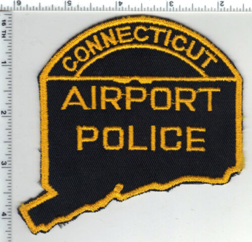 Connecticut Airport Police RARE State Shape Shoulder Patch from the Early 1980