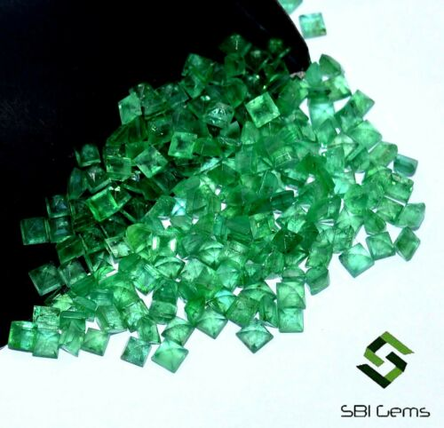 Wholesale Lot Natural Emerald Square Cut 2.50 mm Lot 235 Pcs Loose Gemstones