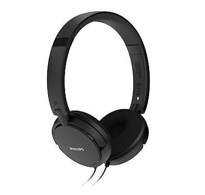 Philips SHL5000 GENUINE Extra Bass Headband Headphones Black Color - BRAND NEW