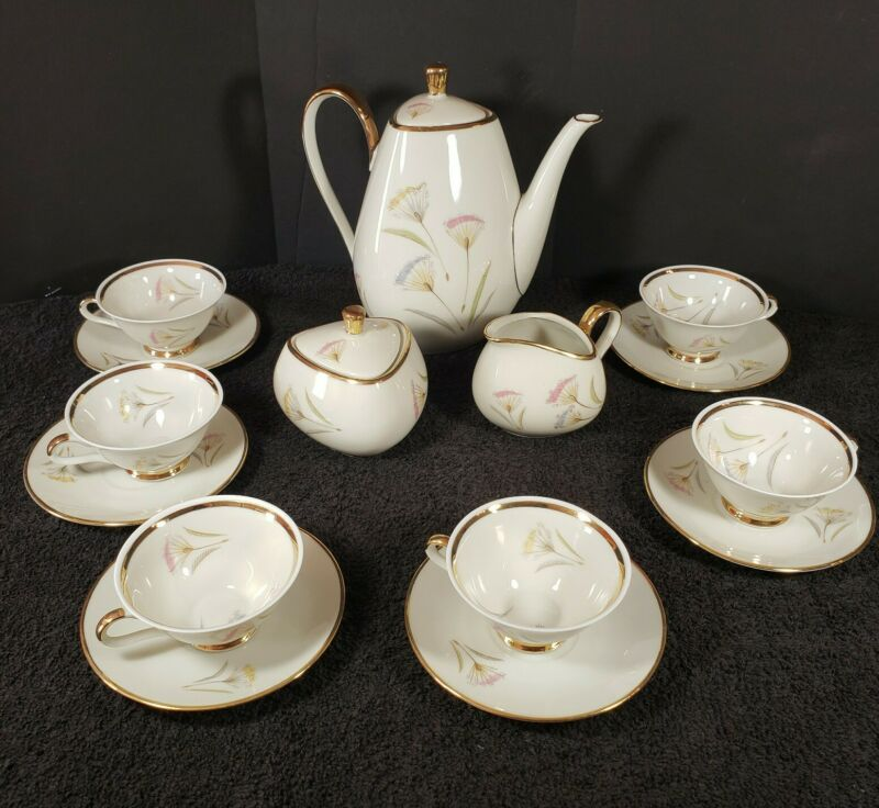 Vintage Winterling Marktleuthem Bavaria Germany 17 Piece Porcelain Tea Set