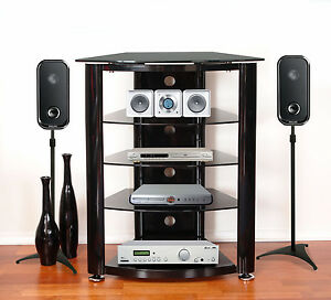 hifi stand ebay. Black Bedroom Furniture Sets. Home Design Ideas