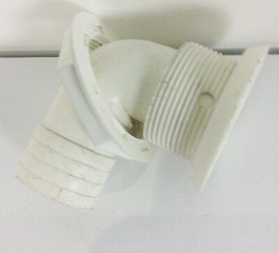 Boat Sink Drain Floor 90 Degree Plastic Elbow White1-1/2
