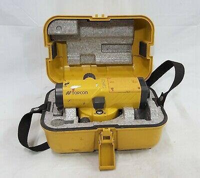 Topcon Auto Level At-b4 Series Automatic Leveling Transit With Case - Nice