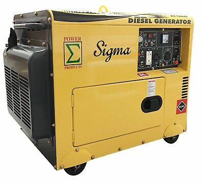 Miami Pickup Surge 7000 Watt 7000w 7kw Enclosed Diesel Generator Electric Start