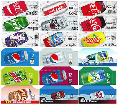 18 Flavor Strips For Soda Vending Machines Coke Pepsi Others - Ships Free