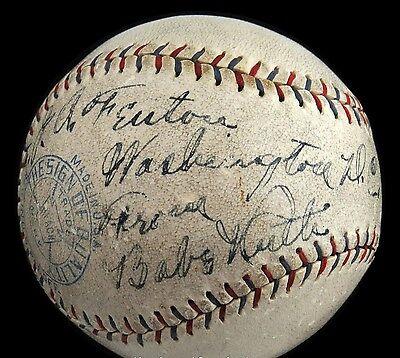 "1928 Babe Ruth (""8"" strength)  & Lou Gehrig (""5"") Signed Baseball - Full JSA for sale  Port Coquitlam"