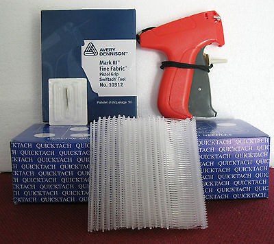 "10312 Avery Dennison Fine Fabric Price Tagging Gun + 5000 1"" Clear Barbs"