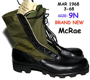 VIETNAM-WAR-JUNGLE-BOOTS-1968-size-9N-McRae-NEW-NOS-19K-TW1