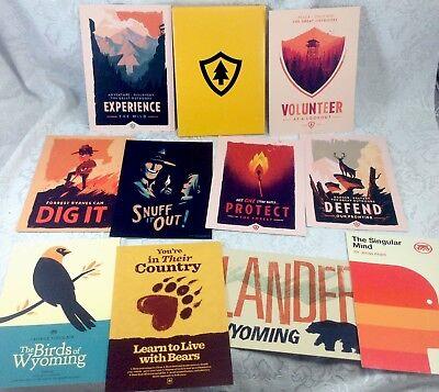 Firewatch Mini Art Prints 11 Handbills Set Lot 5  X 7