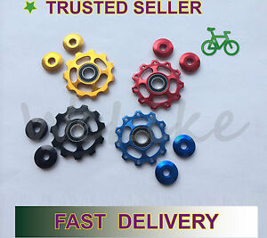 11T-Anodised-Sealed-Bearing-Derailleur-Jockey-Wheels-Pulleys-Shimano-Sram