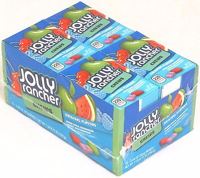 Jolly Rancher Chews Candy Original Fruit Flavors Chewy Bulk 12 Count - Jolly Rancher Chews