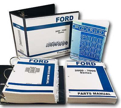 Ford 2000 3000 4000 5000 Series Tractor Service Parts Operators Repair Manual Oh