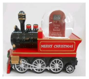 CHRISTMAS MUSICAL TRAIN WITH PHOTO FRAME INSIDE WATER GLOBE- XMAS
