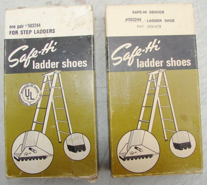 Safe-Hi 503244 Replacement Step Ladder Shoes Vintage NOS Lot of 2 Pair