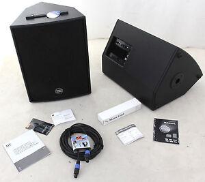 2x HK audio Monitor Multifunktionsbox: Lautsprecher Powerworks RS152XA + RS152X