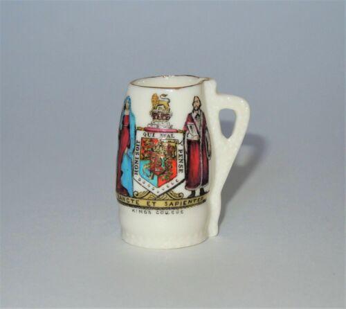 W. H. GOSS Crested Heraldic China Miniature Model of Royal Salisbury Jack King's
