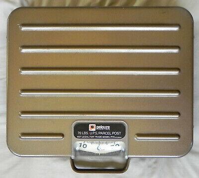 Pelouze 70 Lbs. U.p.s. Parcel Post Counter Scale Model P70 All Metal Exc.