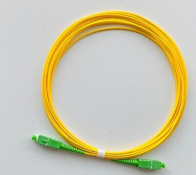 Cable fibra óptica SC/APC SC-APC G652D Simplex Monomodo LSZH Amarillo 15 metros
