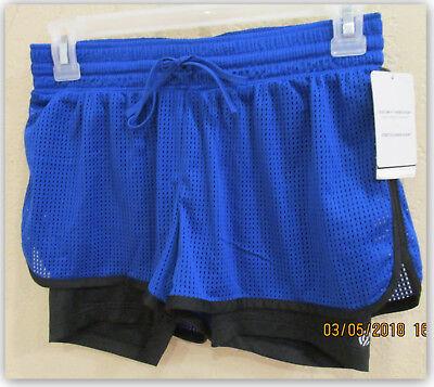 1 Champion Womens Mesh Shorts - Champion women's Mesh layered running shorts 2 in 1 BluAllure XS XXL NWT