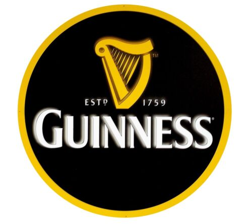 Guinness Harp 24 inch diameter aluminum sign