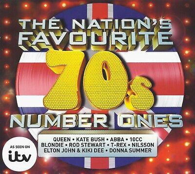 The Nation's Favourite 70s Number Ones 3CD + TOP 100 Hits BONUS ( Digital CDS )