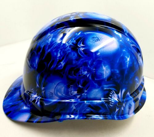 Hard Hat CAP STYLE custom hydro dipped , OSHA approved ICE SKULL LIMITED EDITION 4