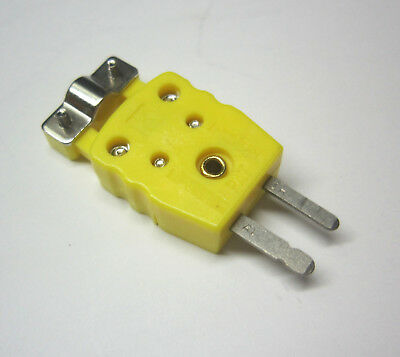 Miniature Mini K-type Thermocouple Sensor Connector Plug Male W Strain Relieve
