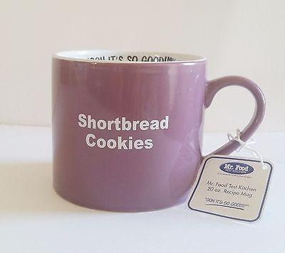 Mr. Food Coffee Mug Lavender Shortbread Cookies Recipe Big 20 oz. Tea Cup
