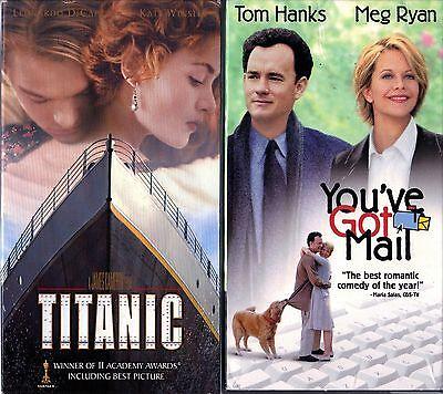 Titanic (VHS, 1998, 2-Tape Set) & You've Got Mail; 2 VHS Tapes