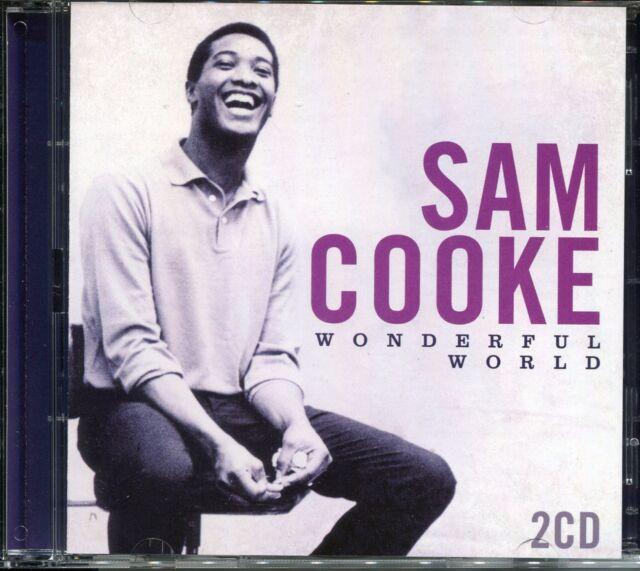 SAM COOKE WONDERFUL WORLD - 2 CD BOX SET - ONLY SIXTEEN, CHAIN GANG & MORE